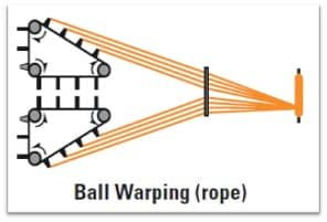 ropes in ball warp