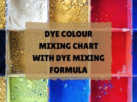 DYE COLOUR MIXING CHART WITH DYE MIXING FORMULA