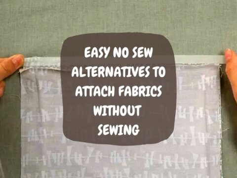 ATTACH FABRICS WITHOUT SEWING