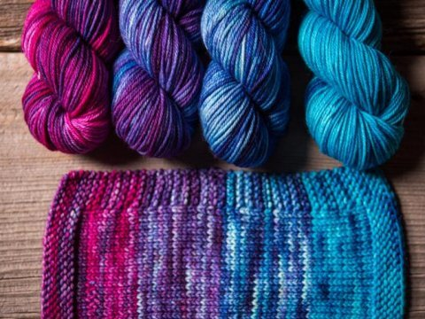 how to dye wool yarn