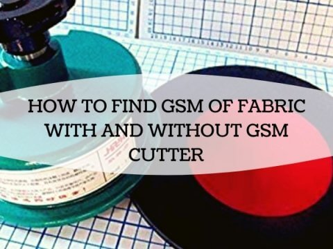 HOW TO FIND GSM OF FABRIC WITH AND WITHOUT GSM CUTTER