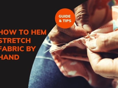HOW TO HEM STRETCH FABRIC BY HAND