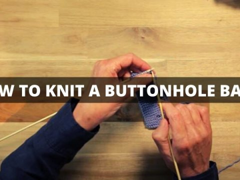 HOW TO KNIT A BUTTONHOLE BAND
