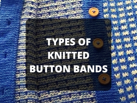 TYPES OF KNITTED BUTTON BANDS