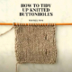 HOW TO TIDY UP KNITTED BUTTONHOLES